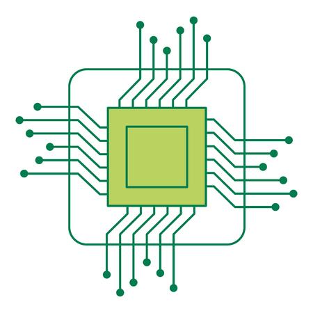 プロセッサ回路絶縁アイコンベクトルイラストデザイン
