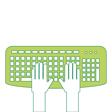 User with keyboard icon Illustration