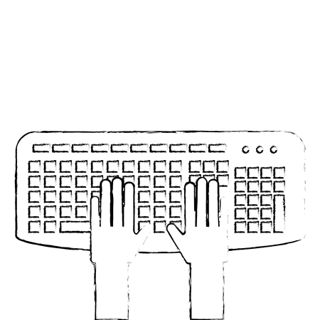 User with keyboard icon vector illustration design.