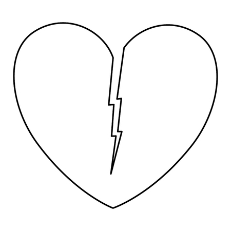 heart love broken icon vector illustration design