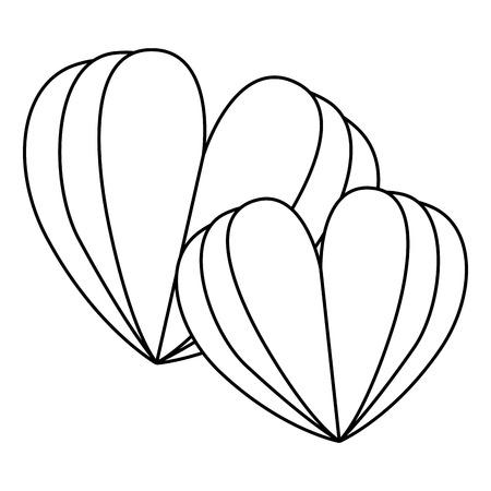 ●2つのハート愛カードベクトルイラストデザイン