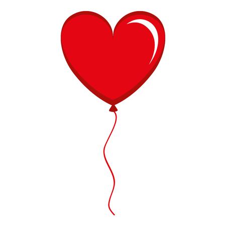 balloon air with heart shape vector illustration design