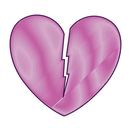 Heart love broken icon vector illustration design