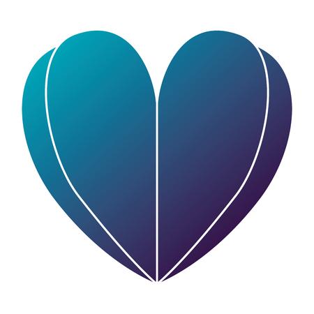 Heart love silhouette decorative vector illustration design. Иллюстрация