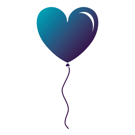 Balloon air with heart shape vector illustration design Illustration