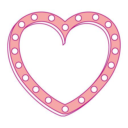 Heart love silhouette decorative vector illustration design