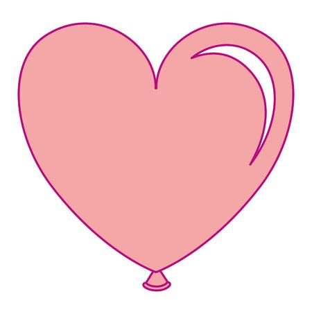 Balloon air with heart shape vector illustration design 向量圖像