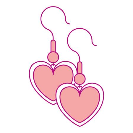 Ohrringe mit Herzform Vektor-Illustration-design Standard-Bild - 93140472