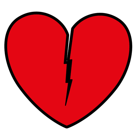 Heart love broken icon, vector illustration design