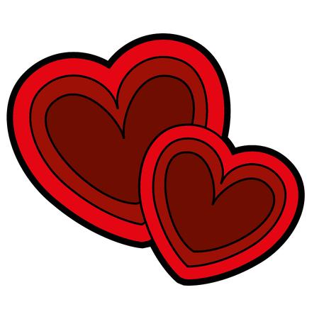 Two hearts love card vector illustration design.