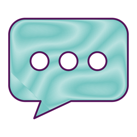 speech bubble chat message social media vector illustration