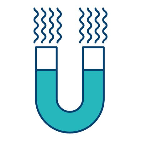 Progettazione blu e verde dell'illustrazione di vettore isolata simbolo del dispositivo dell'attrazione del magnete Archivio Fotografico - 93196522