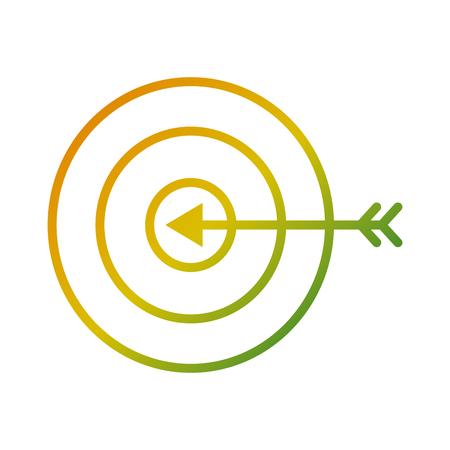 target arrow marketing business strategy vector illustration
