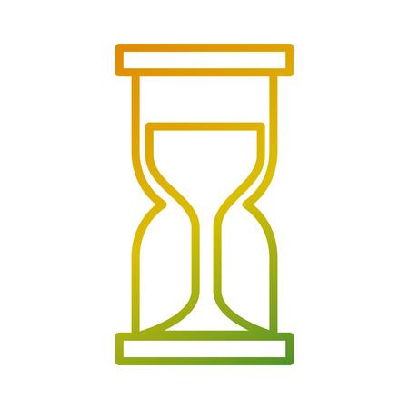 Horloge d & # 39 ; affaires verre horloge temps illustration vectorielle Banque d'images - 93199366