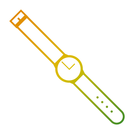 round wristwatch time accessory image vector illustration