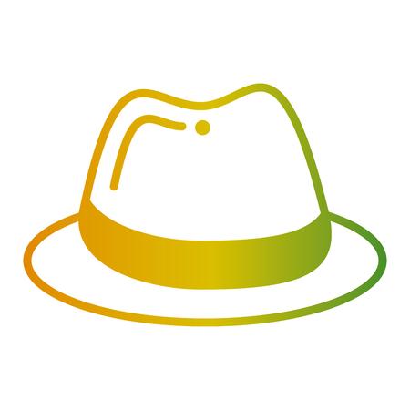 hat fashion accessory elegant icon vector illustration Illustration