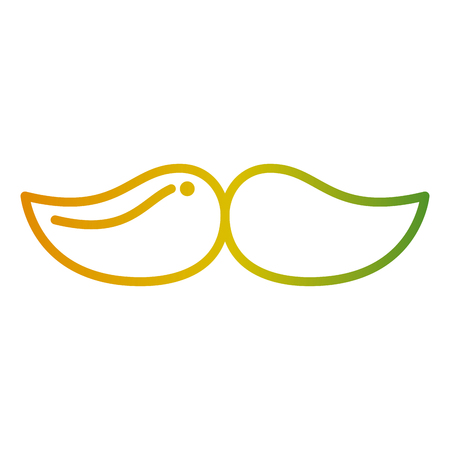 mustache hipster fashion vintage image vector illustration Иллюстрация
