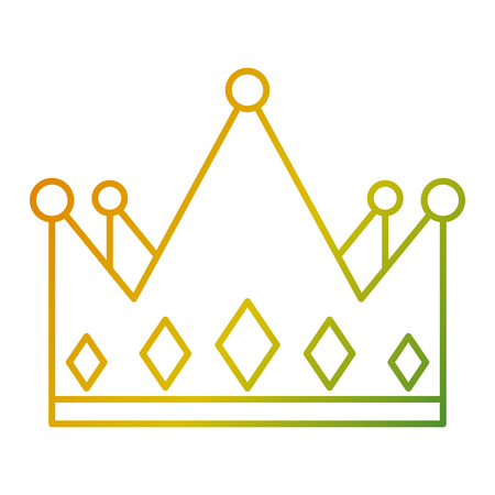 crown monarchy jewelry luxury gem vector illustration