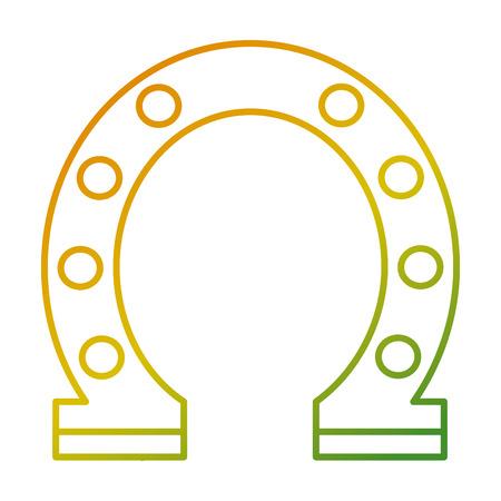 steel horseshoe symbolizes good luck vector illustration Ilustrace
