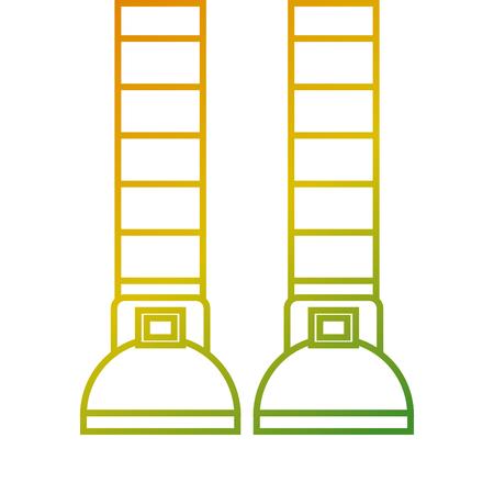 legs of a leprechaun stockings striped vector illustration Illustration