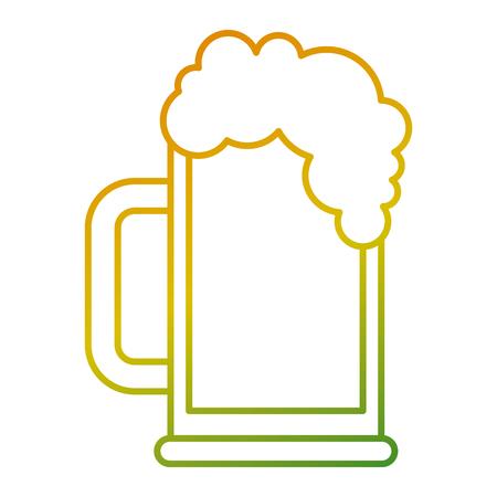 beer glass foam drink icon vector illustration