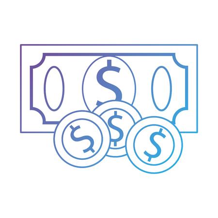 Bill dollar money icon. Vector illustration design.