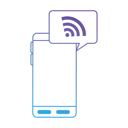 Smartphone device with wifi signal. Vector illustration design.