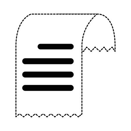 Bon papier geïsoleerd pictogram. Vector illustratie ontwerp.