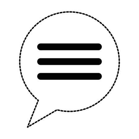 Speech bubble isolated icon. Vector illustration design.