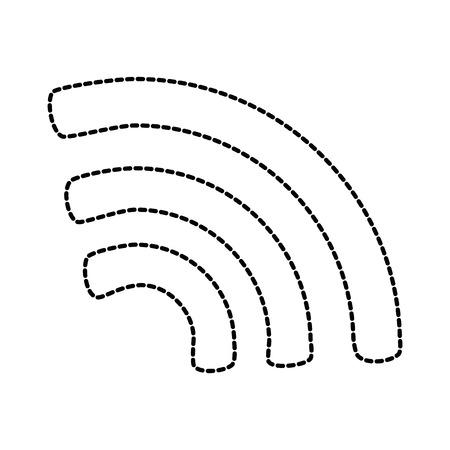 無線LAN信号分離アイコン。●ベクトルイラストデザイン。  イラスト・ベクター素材