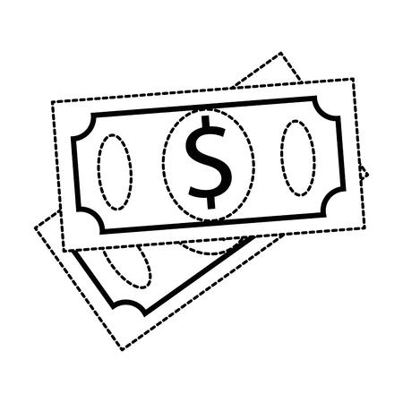 bills dollars isolated icon vector illustration design 版權商用圖片 - 93264748
