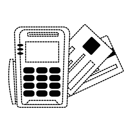 Voucher machine with credit card. Vector illustration design.