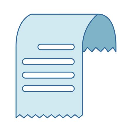 바우처 종이 고립 된 아이콘 벡터 일러스트 레이 션 디자인