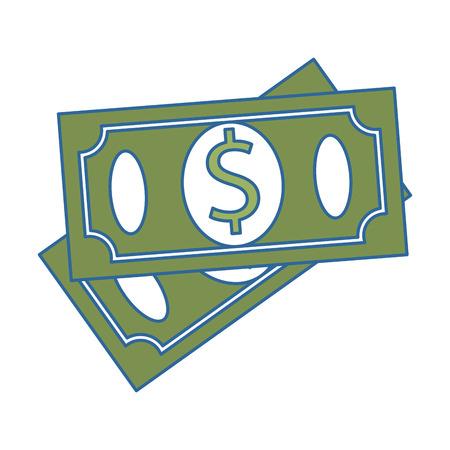 bills dollars isolated icon vector illustration design