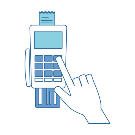 A voucher machine with credit card vector illustration design