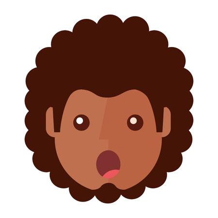 Berraschter junger Mann avatar Charakter . Vektor-Illustration Design Standard-Bild - 93260035