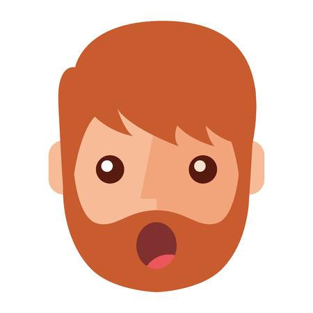Berraschter junger Mann avatar Charakter . Vektor-Illustration Design Standard-Bild - 93260064