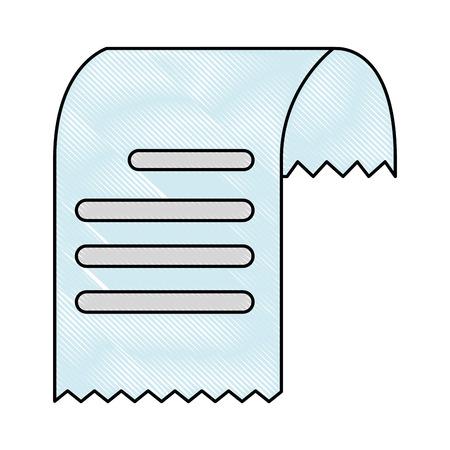 바우처 종이 격리 아이콘 벡터 일러스트 레이 션 디자인. 일러스트