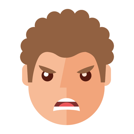 Angry young man avatar character vector illustration design.