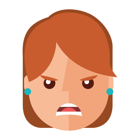 Angry young woman avatar character vector illustration design Illustration