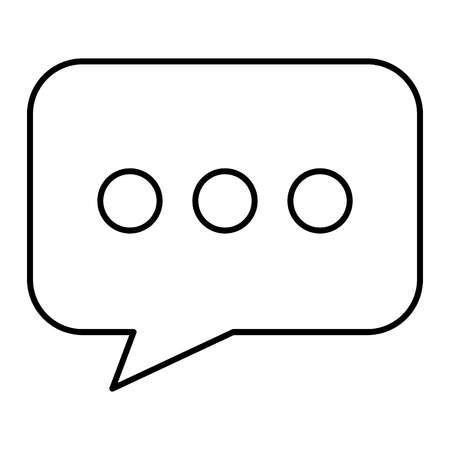 Speech bubble message icon. Vector illustration design. Ilustração
