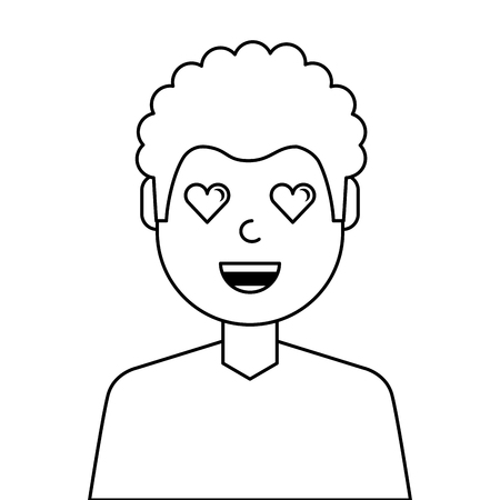Lovely young man avatar character. Vector illustration design.