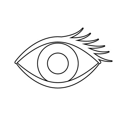 Human eye isolated icon. Vector illustration design.
