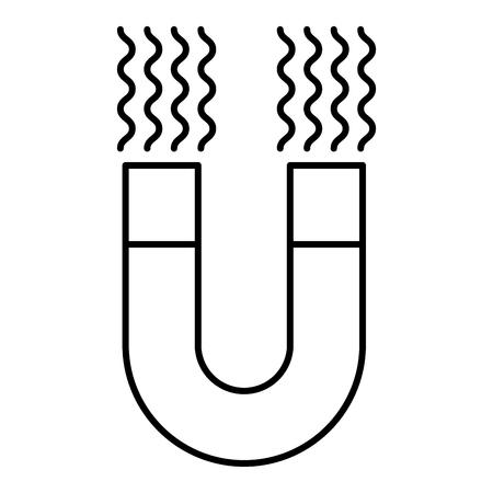 絶縁アイコンベクトルイラストデザインを引き付ける磁石  イラスト・ベクター素材