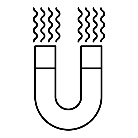 magneet aantrekken van geïsoleerde pictogram vector illustratie ontwerp