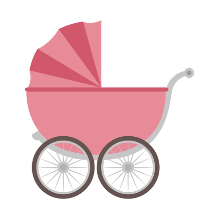 cute baby cart icon vector illustration design