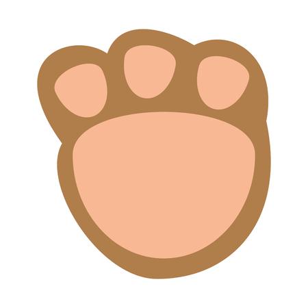 cute footprint teddy icon vector illustration design