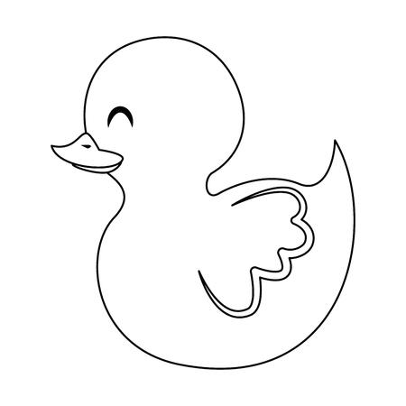 cute little duck icon vector illustration design Illustration