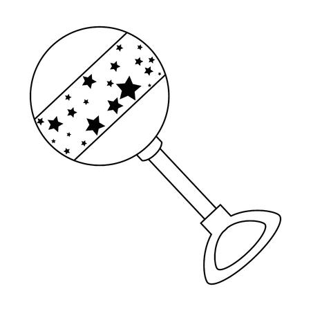 Cute baby jingle bell. Vector illustration design.