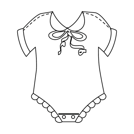 Cute baby dress icon. Vector illustration design.